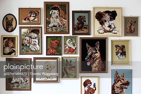 gestickte Hundeliebe - p237m1486572 von Thordis Rüggeberg