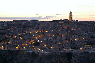Italy, Matera at sunset - p1399m2217351 by Daniel Hischer