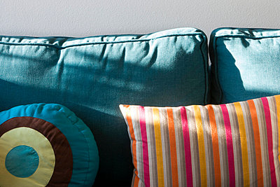 Bright Blue Sofa - p5550527f by LOOK Photography