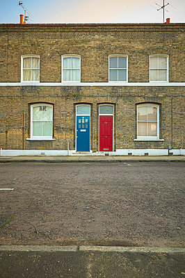 Red and blue door - p1010m2284203 by timokerber