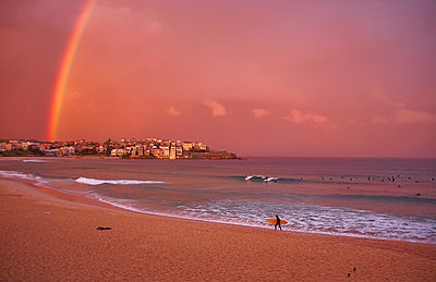 Seaside evening rainbow  - p1125m1203683 by jonlove
