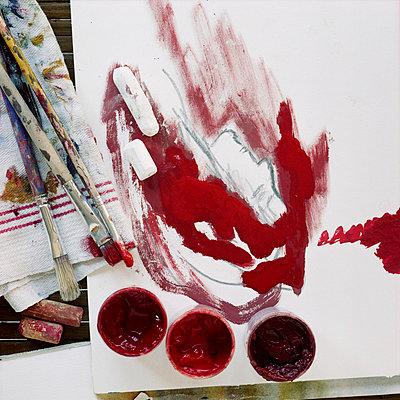 Frau gemalt - p6990010 von Sonja Speck