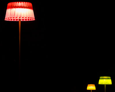 Lamps on black background - p312m935769f by Mikael Svensson