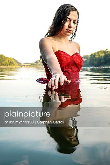 Bathing Beauty in Potomac River - p1019m2111190 by Stephen Carroll