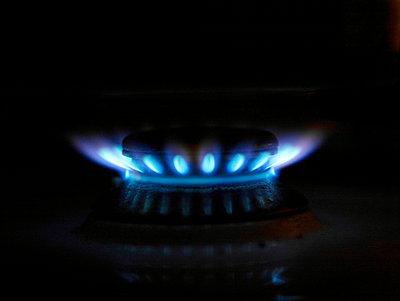Flamme eines Gasherdes - p3460274 von Knut Schulz