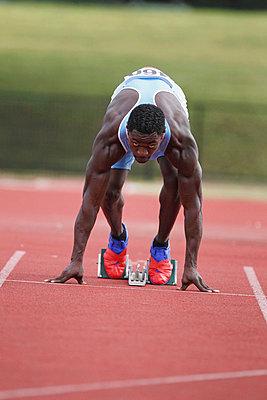 Runner at Starting Block  - p3071287f by Koji Aoki