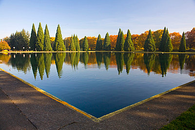 Pond in Eastmorland Park, Portland, Oregon, USA - p4426912f by Design Pics