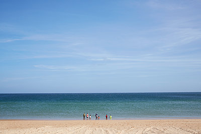 Portugal, Family by the sea - p1612m2223507 by Heidi Coppock-Beard