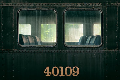 Vintage railway car in Halifax - p470m1190637 by Ingrid Michel