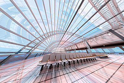 3D Rendered Illustration, Architecture visualization of a airport - p300m2103959 by Spectral photography