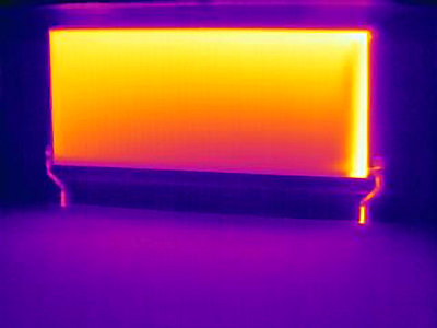 Thermal image of heating radiator - p429m727218 by Joseph Giacomin