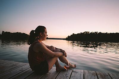 Sommerabend am See, Großer Lychensee - p1396m2015013 von Hartmann + Beese