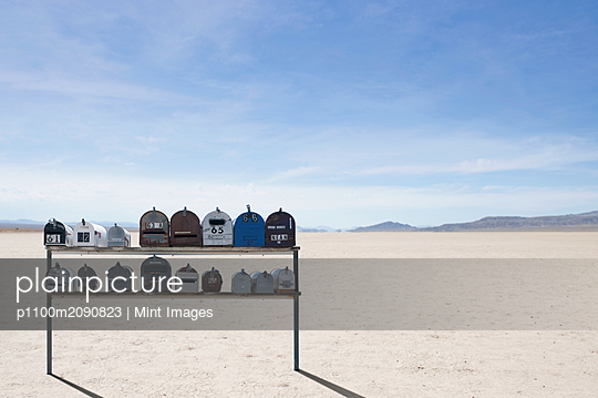 Desert Mailboxes - p1100m2090823 by Mint Images