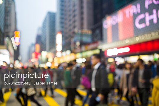 Crowds of people in city - p378m2235445 by Jasper James
