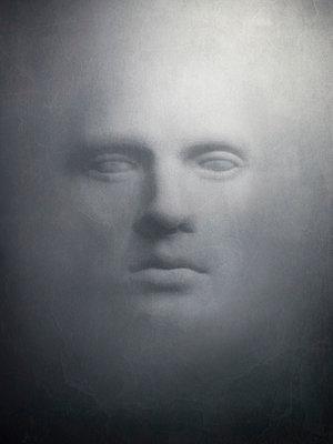 Gesicht in einer Wand - p1052m925345 von Wolfgang Ludwig