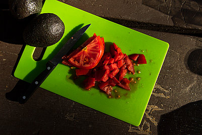Cutting fruits and vegetables - p758m1154864 by L. Ajtay