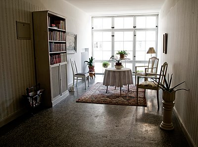 Interiors of a study room, Sweden - p348m915654 by Inger Bladh