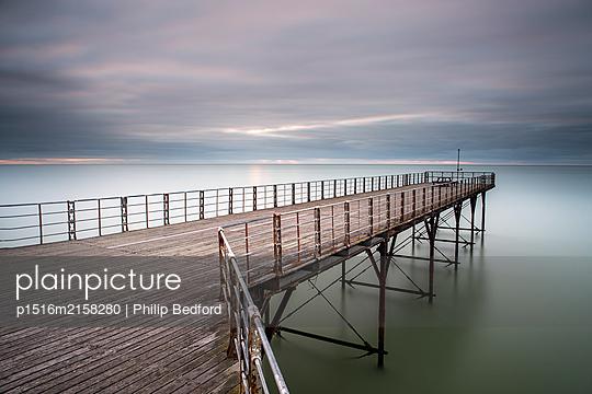 Bognor Regis Pier at dawn, England - p1516m2158280 by Philip Bedford