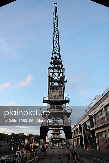 Historic maritime crane - p1048m1080126 by Mark Wagner