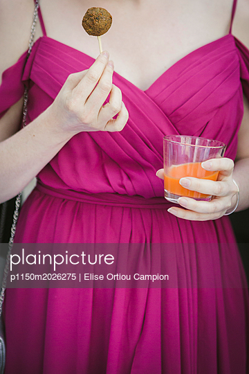 evening fuchsia dress - p1150m2026275 by Elise Ortiou Campion
