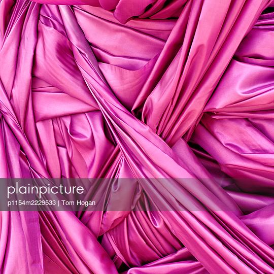 Pink Fabric - p1154m2229533 by Tom Hogan