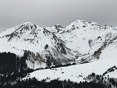 Snow in the mountains - p1048m2016655 by Mark Wagner