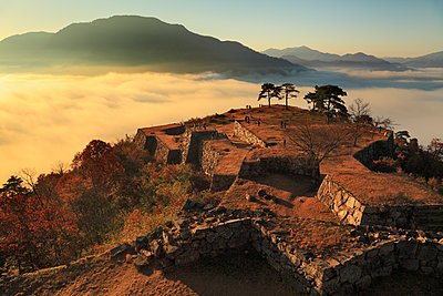 Ruins of Takeda castle at dawn - p514m1483955 by JP