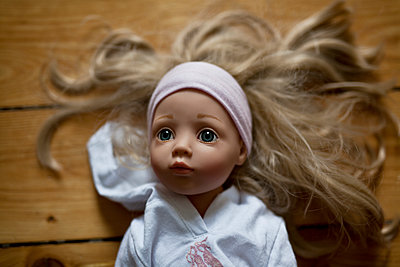 Doll with blond hair - p699m2007791 by Sonja Speck