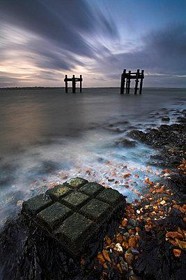 Dawn at Lepe Beach - p8714076 by Adam Burton