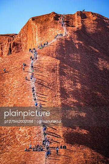 Australien Heiliger Ort Ayers Rock Uluru - p1275m2032058 von cgimanufaktur