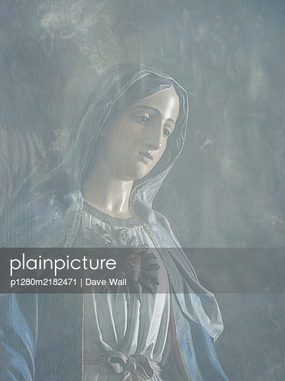 Statue of Blessed Virgin Mary - p1280m2182471 by Dave Wall
