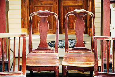 Old wooden chairs - p312m970990f by Per Eriksson