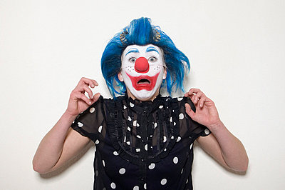 Fearful clown - p3580457 by Frank Muckenheim