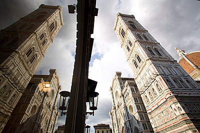 Reflections of the cathedral of Santa Maria del Fiore, Florence, UNESCO World Heritage Site, Tuscany, Italy, Europe - p8711733 by Oliviero Olivieri