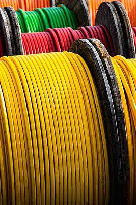 Multi-colored cable coils - p1418m2014885 by Jan Håkan Dahlström