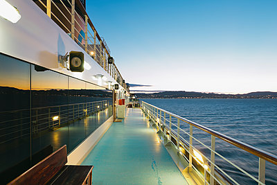 On board of a cruise ship, Mediterranean Sea in the evening - p300m1140604 by Merle M.