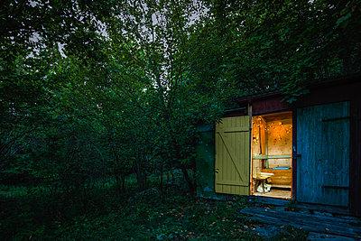 Outhouse toilet - p1418m1572031 by Jan Håkan Dahlström