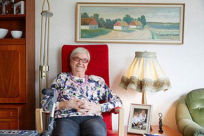 Portrait of senior woman - p312m1054621f by Jan Tove