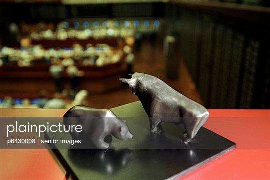 Bulle und Baer an der Börse  - p6430008 von senior images