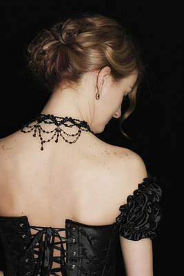 Woman with corset II - p476m881860 by Ilona Wellmann