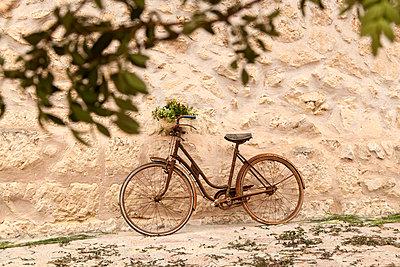 Altes Fahrrad beim Feigenfest - p1021m2020395 von MORA