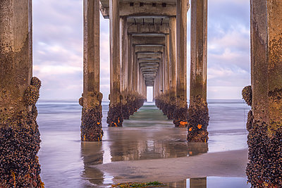 Scripps Pier - p1436m1493023 by Joseph S. Giacalone