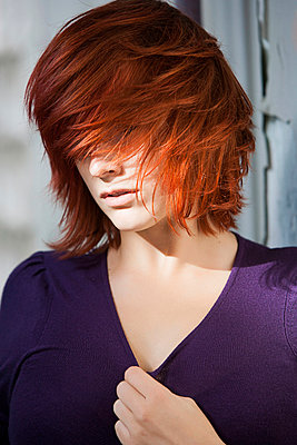 Red-haired woman - p1076m908395 by TOBSN