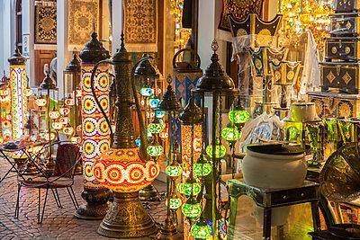 Lanterns at market in Manama, Bahrain - p1427m2109710 by Henryk Sadura