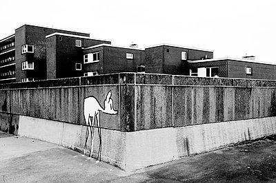 Reh Graffiti - p1523m2064342 von Nic Fey