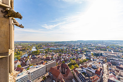 Germany, Ulm, cityscape seen from Ulmer Minster - p300m1460238 by Werner Dieterich