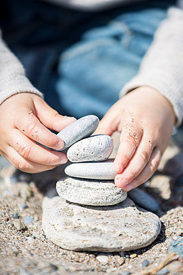 Stacking Rocks - p535m1018670 by Michelle Gibson