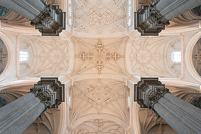 Spain, Granada, Ceiling of the Cathedral - p1332m2205625 by Tamboly