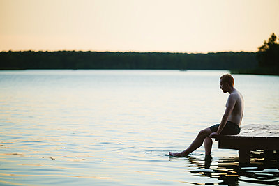 Sommerabend am See, Großer Lychensee - p1396m2015010 von Hartmann + Beese