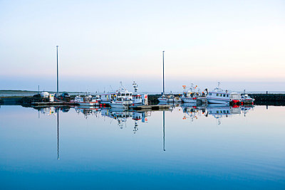 Boats in harbour - p3883044 by Roussel